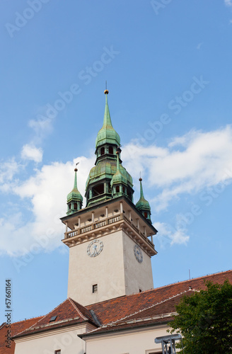 building of an old town hall in Brno, the Czech Republic