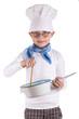 kleiner Koch mit Topf