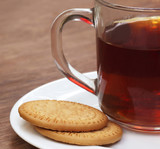 Cookies with cup of tea