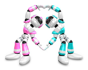 The heart in the form of body language. Create 3D Humanoid Robot