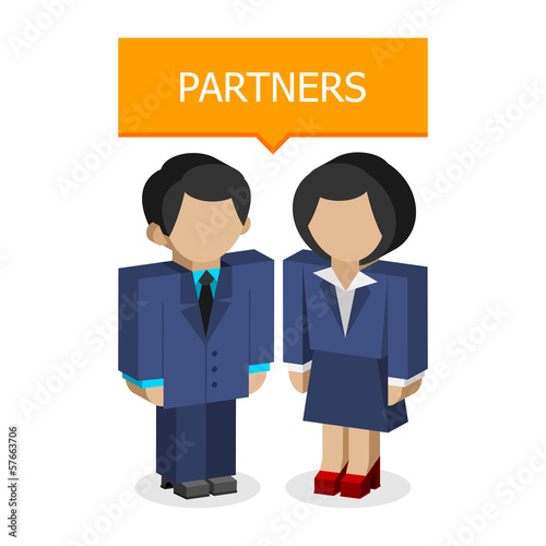 Businessmen partners