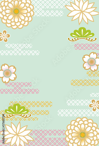 Japanese retro floral background