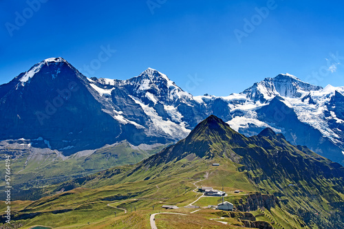 Mounts Eiger, Moench and Jungfrau