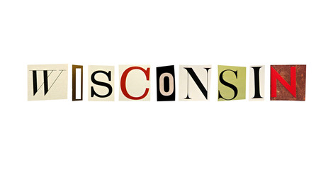 Wisconsin word formed with magazine letters