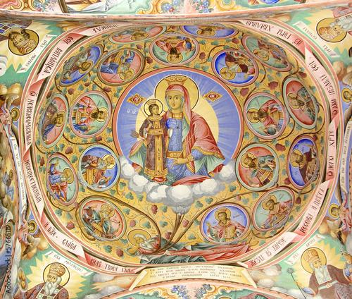 Fresco In Rila Monastery, Bulgaria