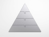 metal pyramidal hierarchy with clipping path