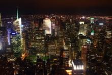 Fototapete - Paesaggio notturno di New York