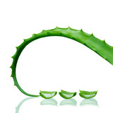 Aloe Vera leaf with slices