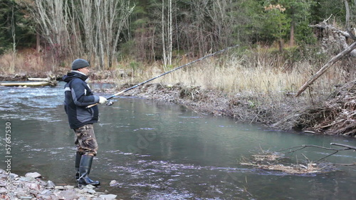 Fishing for grayling in the autumn