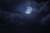 Night starry sky and moon - Fine Art prints