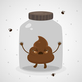 Cute turd in a glass jar