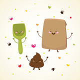 Cute turd and friends