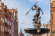 Fountain of Neptune - the old town in Gdansk, Poland - 57668755