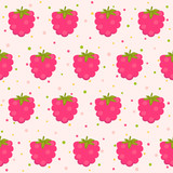 Pattern with raspberries