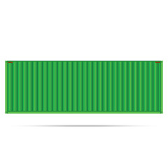 vector popular cargo green container shipping freight isolated t