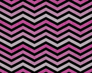 Pink, Gray and Black Zigzag Textured Fabric Background