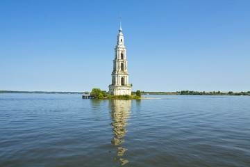 Russia, submerged church