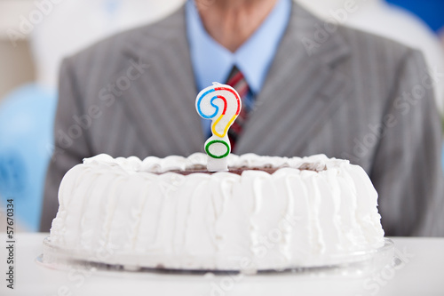 cake with a question mark