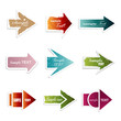 Paper Arrow Set - Isolated On White Background - Vector