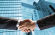 handshake of two businessmen
