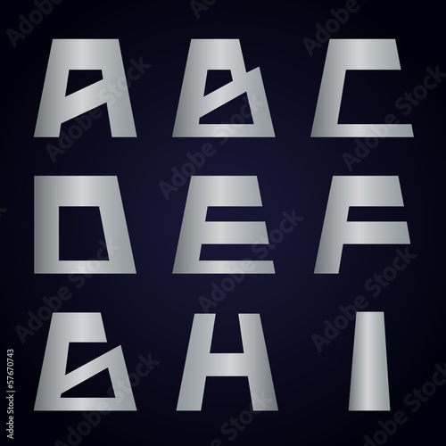 Letters - Isolated On Background - Vector Illustration