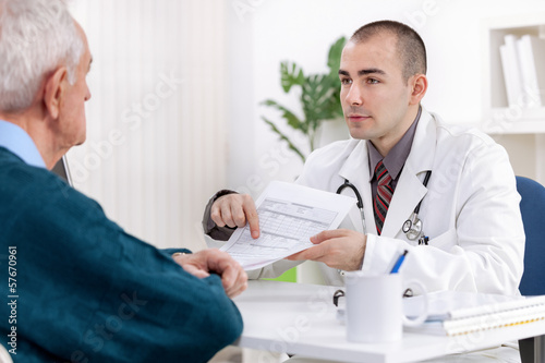 Senior man at doctor