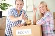 satisfied couple, savings to new home