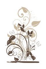 floral marron grunge