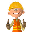 Construction worker 3d