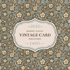 Vintage vector background in classical baroque style