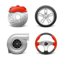 Pièces automobiles vectorielles 1