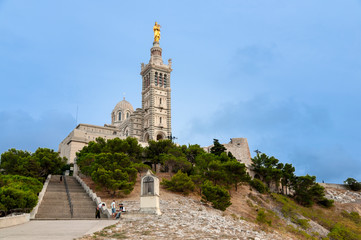 Basilique Notre dame de la garde at Marseille horizontal view