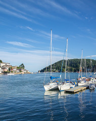 Yachts Moored at Dartmouth, England