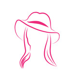 Vector Logo Woman with hat