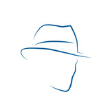 Vector Logo Man with hat