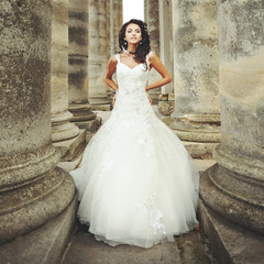 Gorgeous caucasian bride