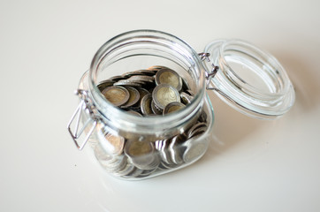 coins in a bottle