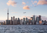 Turbo prop aircraft landing at Billy Bishop airport