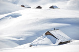 Farm house buried under snow, Melchsee-Frutt, Switzerland