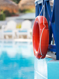 lifebuoy in hotel pool