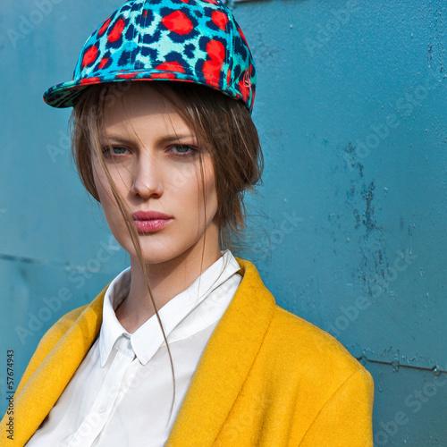 fashion model outdoor portrait - 57674943
