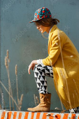 fashion model outdoor portrait - 57674979