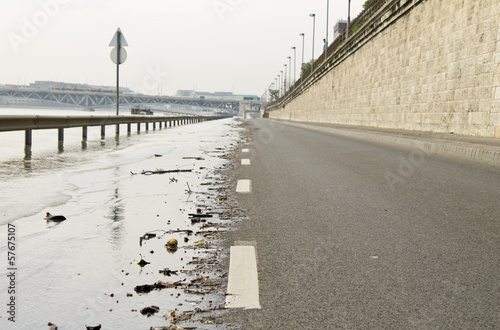 Road in flood