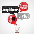 bulles rouge gris : nous vous simplifions la vie (français)