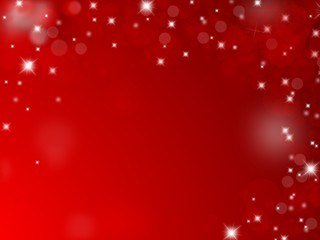 Red christmas background with text space