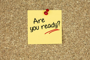 Are you ready. Cork board