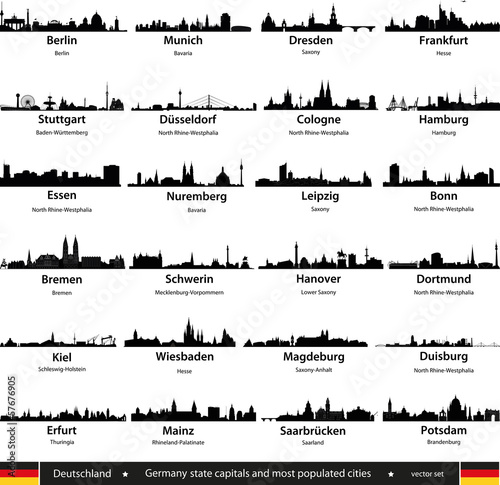 Fototapeta germany city skylines