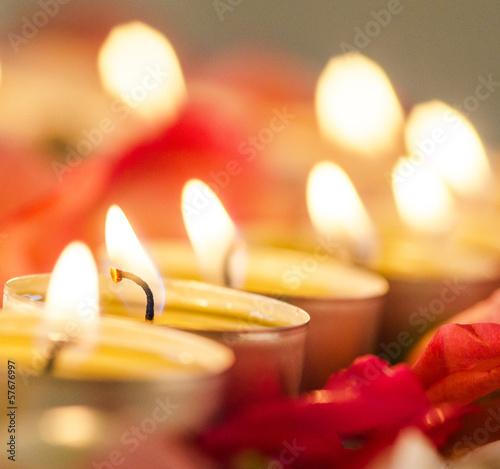 Romantisches Kerzenlicht