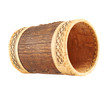 Handmade wooden cylindrical case