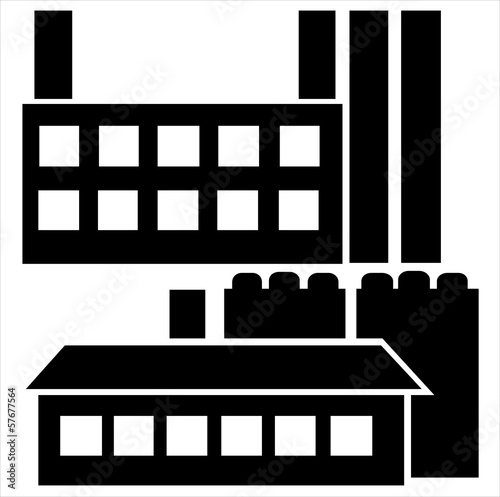 industrial house icon set isolated on white background